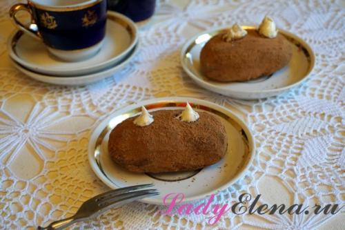 Картошка пирожное самое вкусное. Классическое пирожное картошка из печенья со сгущенкой в домашних условиях – фото рецепт пошаговый