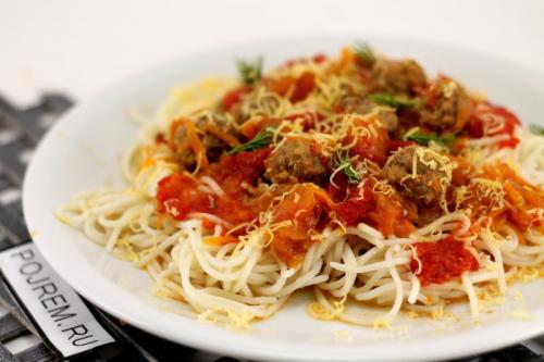Спагетти с фрикадельками рецепт. Рецепт: спагетти с фрикадельками