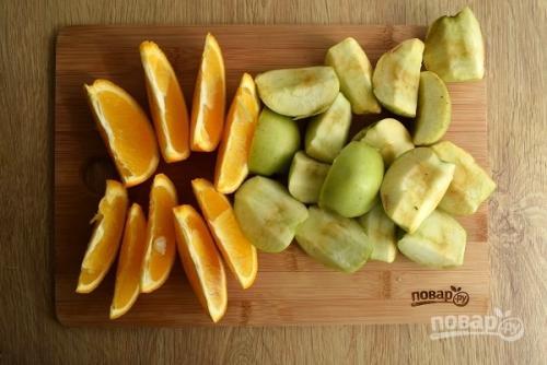 Утка кусочками с яблоками и апельсинами. Утка с яблоками и апельсинами