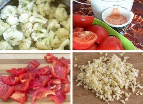 Салаты на зиму из капусты. Вкусный зимний салат из цветной капусты и помидоров с болгарским перцем