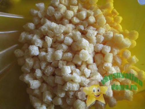 Десерт из кукурузных палочек и ирисок. Кукурузные палочки с ирисками – рецепт из детства