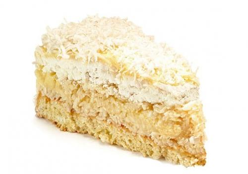 Кокосовый Торт с заварным кремом. Кокосовый торт с заварным кремом
