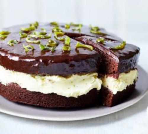 Шоколадно-лимонный торт рецепт. Шоколадный лимонный торт