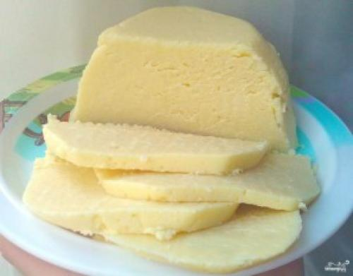 Домашний сыр из молока и кефира. Домашний сыр из кефира и молока