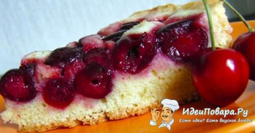 Пирог с вишнями рецепт на быструю руку на кефире. Простой и быстрый пирог на кефире с вишней — рецепт