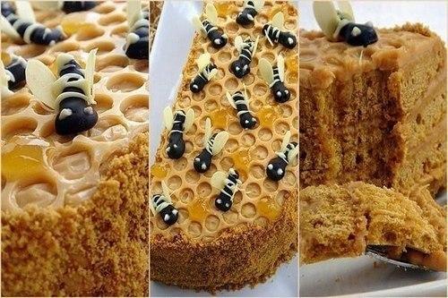 Наливной медовик пчелка. Домашний торт «Пчелка» медовый
