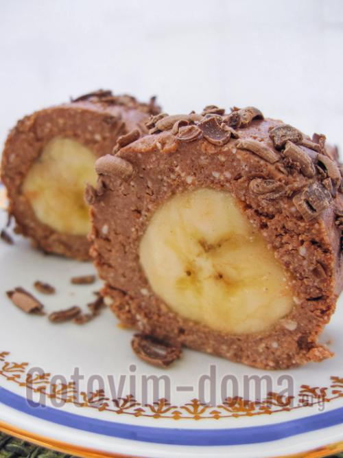 Творожно-банановый десерт без выпечки.