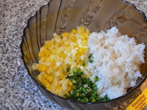 Пирог в мультиварке с рисом и яйцом. Описание рецепта: