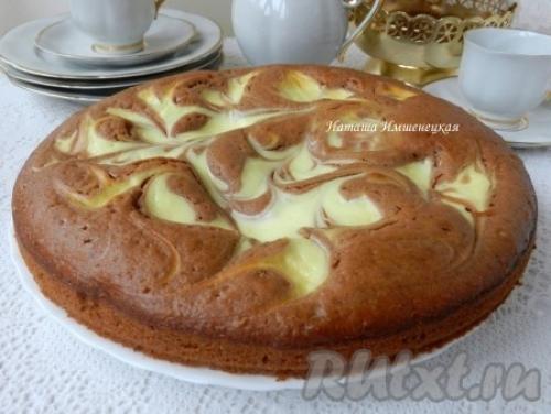 Пирог с творогом и какао рецепт. Творожный пирог с какао