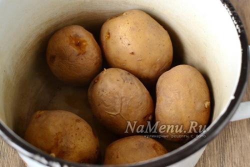Картофельные котлеты из картошки в мундире