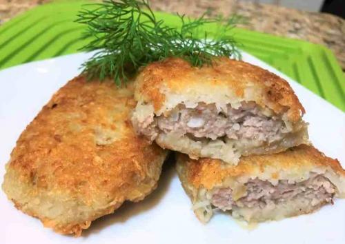 Картофельные драники рецепт. Рецепт картофельных драников с мясным фаршем