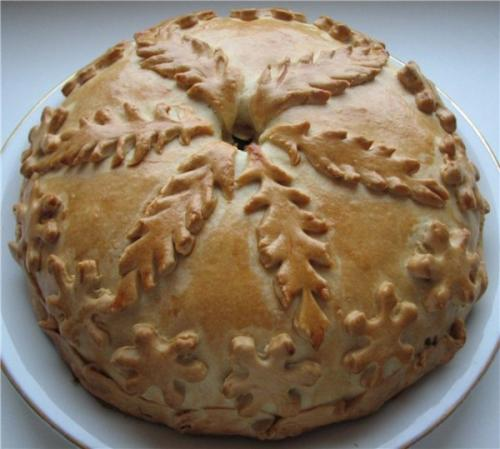 Татарский пирог с мясом и картошкой. Татарское национальное блюдо Балеш