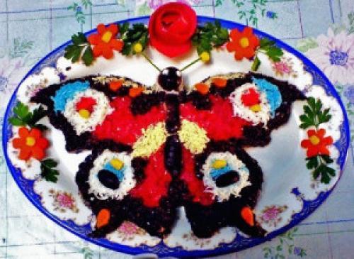 Как приготовить салат бабочка. Салат бабочка