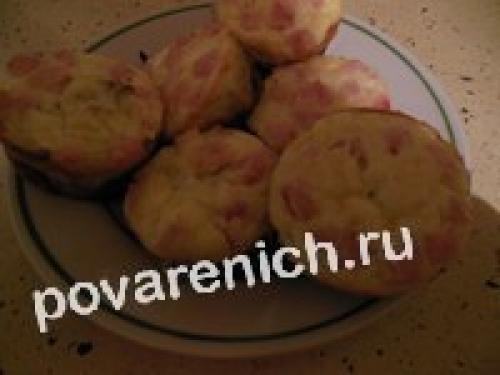 Картофельные кексы с начинкой. Картофельные кексы