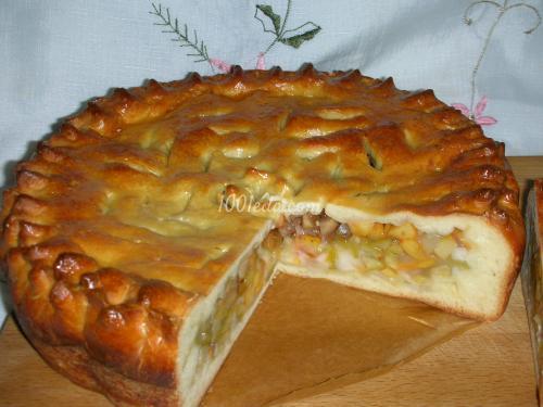 Открытый Дрожжевой пирог с фруктами. Пирог из сдобного дрожжевого теста с фруктами: пошагово с фото