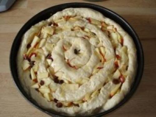 Пирог-улитка с яблоками. Яблочный пирог «Улитка»
