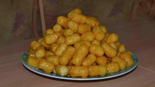Десерт из ирисок и кукурузных палочек. Чак-чак из кукурузных палочек и ирисок