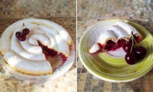 Пирог-улитка с вишней на кефире. Отличный рецепт пирога улитки с вишней