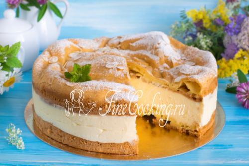 Заварной торт Карпатка. Торт Карпатка