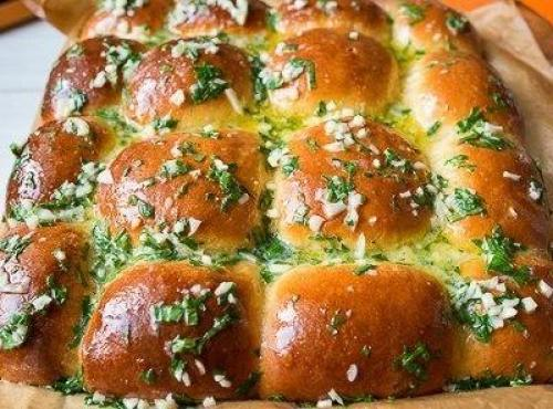 Пампушки с чесноком к борщу без дрожжей рецепт пошагово