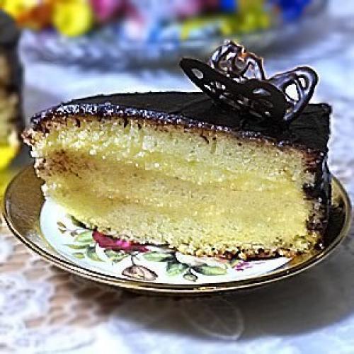 Торт птичье молоко манкой рецепт фото