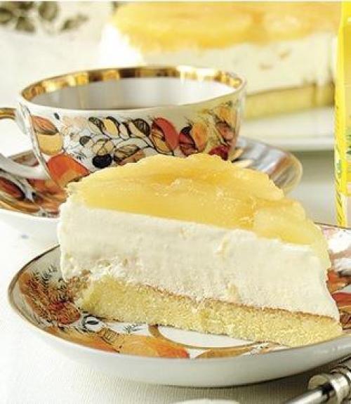 Йогуртовый торт с ананасами - видео рецепт