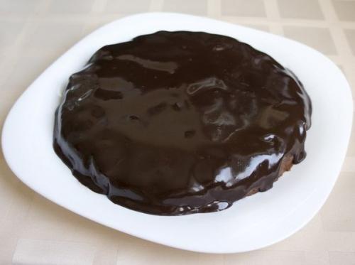 Шоколадно - творожный мягкий пирог.