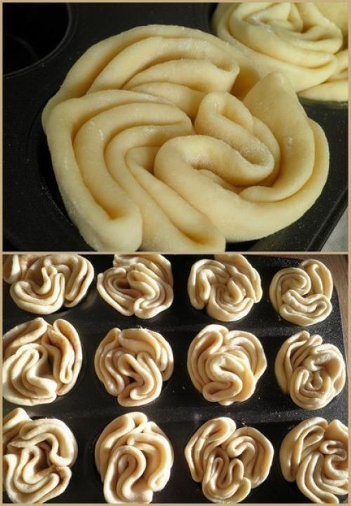 Рецепт сдобных булочек. Сдобные булочки. Пекутся они в форме для маффинов, поэтому такая необычная форма - не то булочка, не то кекс.