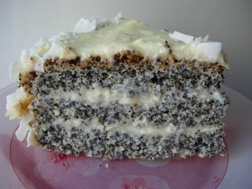 Маково - кокосовый торт.