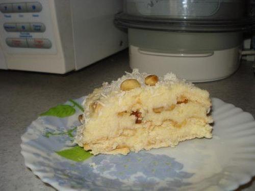 Торт кокосовый. Любимый кокосовый торт без выпечки.