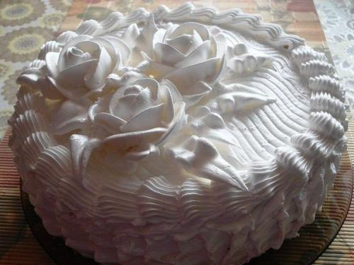 Лимонный торт с кремом из белков. Бисквитный торт с белковым кремом.