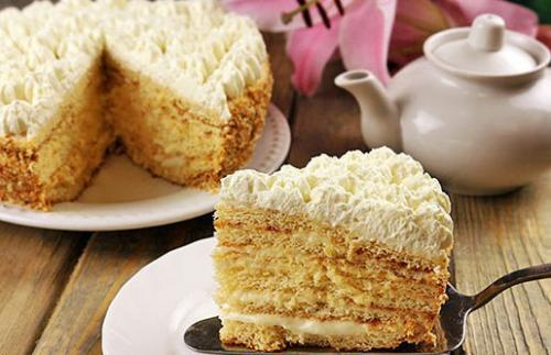 """""""Молочная девочка"""" рецепт торта. Торт """"Молочная Девочка"""" с пломбирным кремом."""