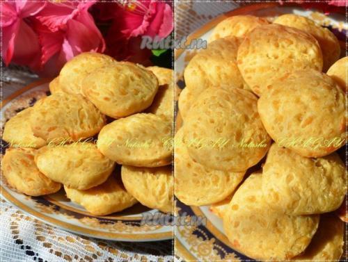Сырное печенье на кефире.