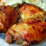 Куриные бедрышки в духовке.