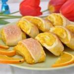 Мягкие апельсиновые печенья.