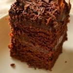 Супер - влажный шоколадный пирог.