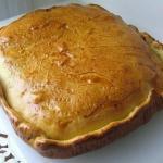 Пирог с курицей и картошкой.