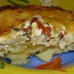 Обалденная картофельная запеканка с рыбкой.