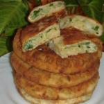 Сырные лепёшки с зелёным луком!