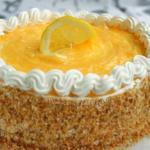 Торт лимонно - кокосовый.