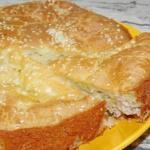 Заливной пирог с картошкой и фаршем.