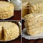 """Торт """"Наполеон"""" с очень вкусным кремом."""