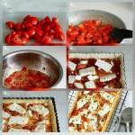 Пирог с помидорами и сыром Фета.