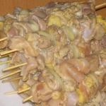 Куриный шашлык с картошкой в духовке?