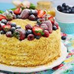"""Торт """"Медовик"""".  Вкусный торт сказочно!"""