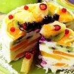 """Творожный торт """"Волшебный""""."""