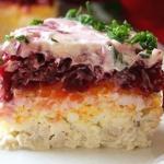 Салат генерал.  Этот сытный и остренький салат с мужественным названием придётся по вкусу всем!