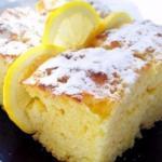 Легкие лимонные пирожные.