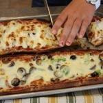 Необыкновенная пицца с изящной подачей!