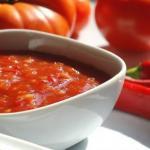 Соус из помидоров и перца.